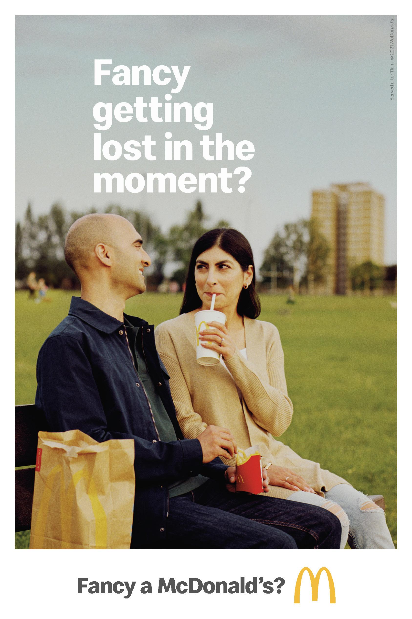 McDonalds photo shoot for couple